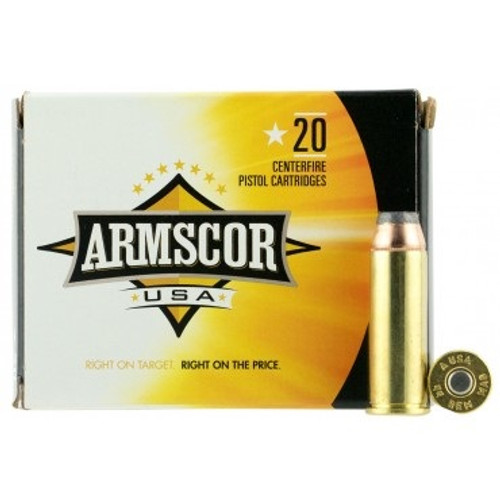 Armscor USA 44 Magnum Ammunition FAC44M-2N 240 Grain Jacketed Hollow Point 20 Rounds