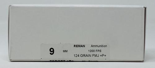 Precision One 9mm Ammunition **Reman** PONE1235 +P+ 124 Grain Full Metal Jacket 50 Rounds
