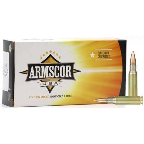 Armscor 308 Win Ammunition 168 Grain Hollow Point Boat Tail 20 Rounds