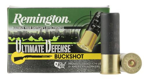 """Remington 12 Gauge Ammunition R12HB00HD Ultimate Defense 3"""" 15 Pellets 00 Buck 5 Rounds"""