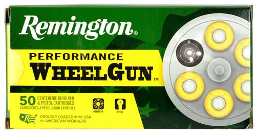 Remington 38 Special Ammunition Performance WheelGun RPW38S5 158 Grain Lead Round Nose 50 Rounds