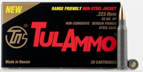 Tula 223 Rem Ammunition 223624 62 Grain Hollow Point CASE 1000 Rounds