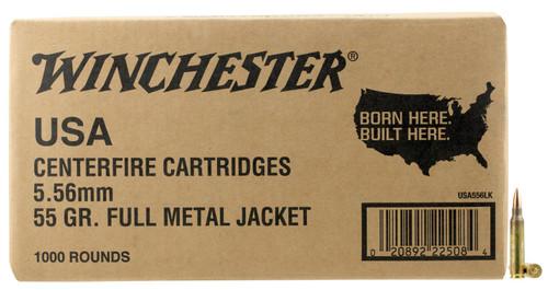 Winchester 5.56 NATO Ammunition WM1931000 55 Grain Full Metal Jacket BULK 1000 Rounds