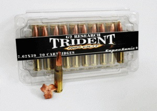 G2 Research 7.62x39mm Ammunition124 Grain Trident Supersonic 20 Rounds