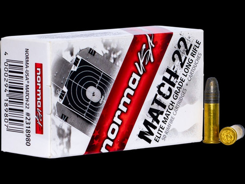 Norma Rifle Match 40 Grain Lead Round Nose 50 Rounds