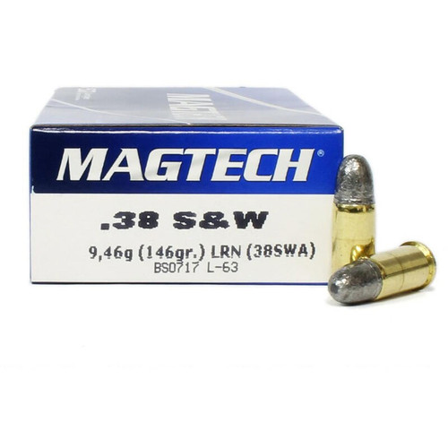 Magtech 38 S&W Ammunition 38SWA 146 Grain Lead Round Nose 50 Rounds