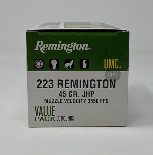 Remington 223 Remington Ammunition L223R7V UMC 45 Grain Jacketed Hollow Point 50 Rounds