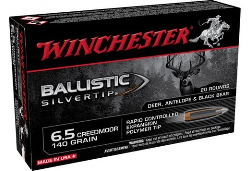 Winchester 6.5 Creedmoor Ammunition SBST65CM 140 Grain Rapid Controlled Expansion Polymer Tip 20 Rounds
