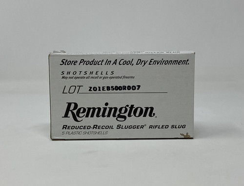 "Remington 12 Gauge Ammunition RR12RSBDHS 2-3/4"" 1 oz Reduced Recoil Slugger 5 Rounds"