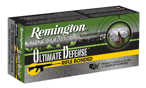 Remington 223 Remington Ammunition RD223R4 Ultimate Defense Rifle Bonded 62 Grain Pointed Soft Point 20 Rounds