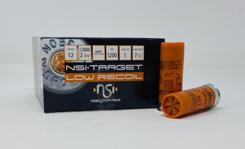 "Nobel Sport Italia 12 Gauge Ammunition ANSLR175CASE 2-3/4"" 1oz 7-1/2 Hard Shot CASE 250 Rounds"