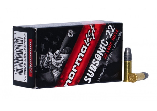 Norma 22 Long Rifle Ammunition NORMA2400065 40 Grain Subsonic Lead Hollow Point 50 Rounds