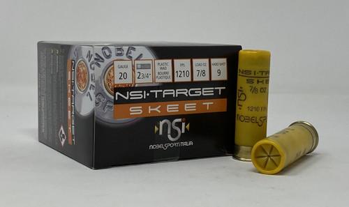 "Nobel Sport Italia 20 Gauge Ammunition ANS209CASE 2-3/4"" 7/8 oz 9 Shot CASE 250 Rounds"