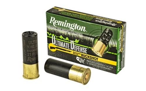 "Remington 12 Gauge Ammunition 12BRR4HD 2-3/4"" 21 Pellets 4 Buck 5 Rounds"
