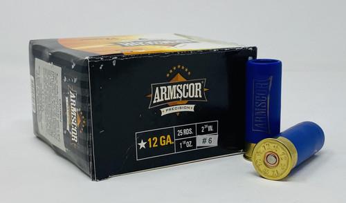 """Armscor 12 Gauge Ammunition ARM50134 2-3/4"""" 1-1/8 oz #6 Shot 25 Rounds"""