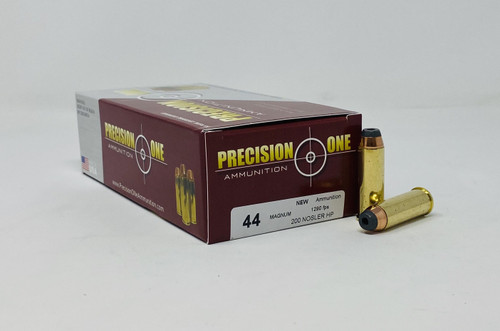 Precision One 44 Magnum Ammunition PONE1293 200 Grain Nosler Hollow Point 50 Rounds