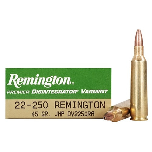 Remington 22-250 Rem Ammunition DV2250RA 45 Grain Jacketed Hollow Point 20 Rounds