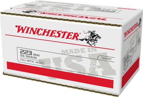 Winchester 223 Rem Ammunition USA223L2 55 Grain Full Metal Jacket Value Pack 200 Rounds