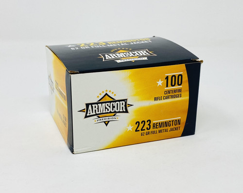 Armscor 223 Rem Ammunition ARM50448 62 Grain Full Metal Jacket 100 Rounds