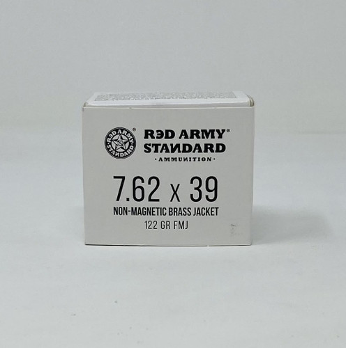 Century Red Army 7.62x39mm Ammunition AM3265 122 Grain Non-Magnetic Full Metal Jacket 20 Rounds