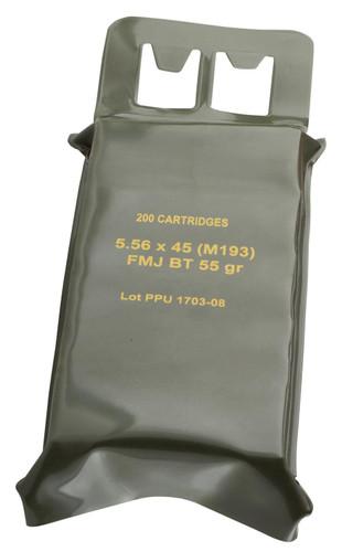 Prvi PPU 5.56x45mm NATO M193 Ammunition PPN5561BP 55 Grain Full Metal Jacket Battle Pack 200 Rounds
