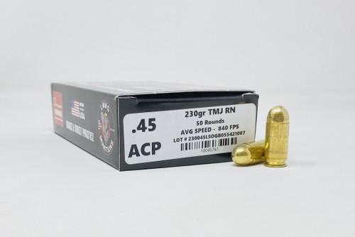 Lake Martin Machine Gun 45 Auto *REMAN* Ammunition LMMG45ACP 230 Grain Total Metal Jacket Round Nose 50 Rounds