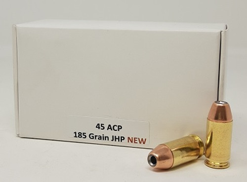 White Box 45 ACP Ammunition PONE111 185 Grain Jacketed Hollow Point 50 Rounds