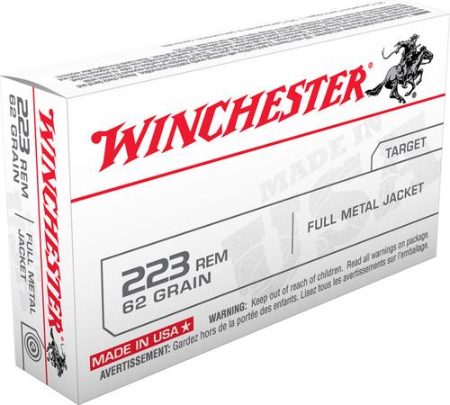 Winchester 223 Rem Ammunition USA223R3 62 Grain Full Metal Jacket 20 Rounds