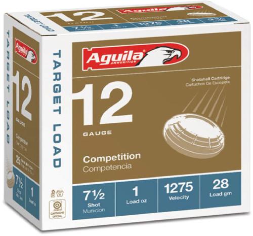 """Aguila 12 Gauge Ammunition 1CHB1337 2 3/4"""" 1oz #7.5 Shot 1275 Fps 25 Rounds"""