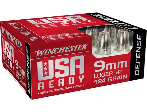 Winchester 9mm Luger +P Ammunition RED9HP 124 Grain Hex-Vent Hollow Point 20 Rounds