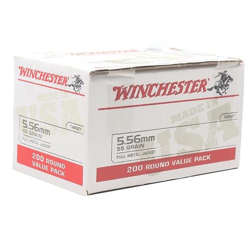 Winchester 5.56x45mm NATO M193 Ammunition WM193200 55 Grain Full Metal Jacket Range Pack 200 Rounds