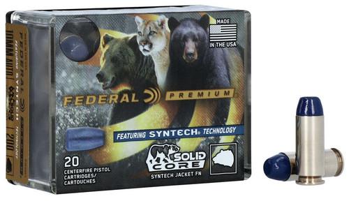 Federal Premium 10mm Auto Ammunition P10SHC1 200 Grain Syntech Jacket Lead Flat Nose 20 Rounds