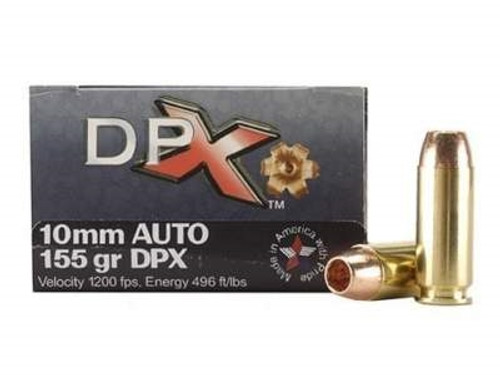 Corbon 10mm DPX Ammunition 155 Grain DPX Hollow Point Lead-Free 20 rounds