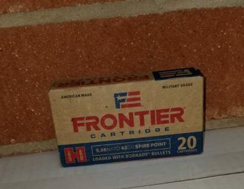 Hornady 5.56 NATO Ammunition Frontier FR280 62 Grain Spire Point 20 Rounds