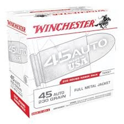 Winchester 45 Auto Range Pack USA45W 230gr FMJ 200 rounds