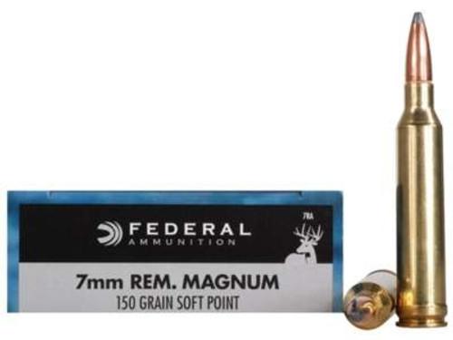 Federal 7mm Rem Mag Power-Shok F7RA 150 gr SP 20 rounds