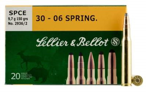 Sellier & Bellot 30-06 Springfield Ammuntion SB3006C 150 Grain Soft Point SPCE 20 rounds