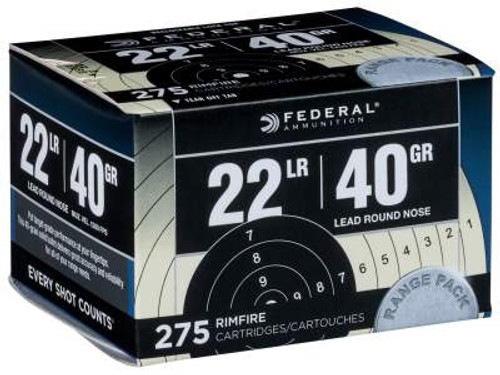 Federal 22LR Ammunition Range Pack F729 40 Grain CASE 2,750 rounds