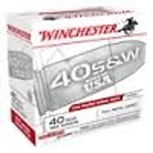 Winchester 40 S&W Range Pack CASE USA40W 165gr FMJ 600 rounds