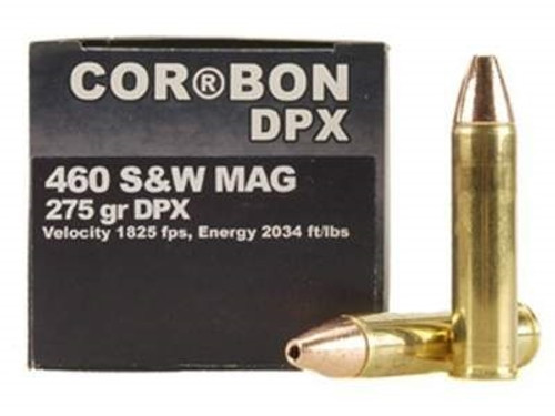 Corbon 460 S&W Magnum DPX Ammunition 275 Grain DPX Hollow Point Lead-Free 20 rounds