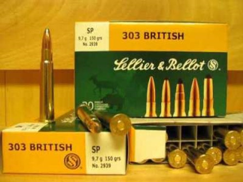 Sellier & Bellot Ammunition 303 British 150 Grain Soft Point SB303B 20 Rounds