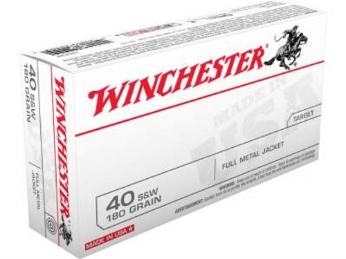Winchester 40 S&W Ammunition Best Value Q4238 180 Grain Full Metal Jacket 50 Rounds