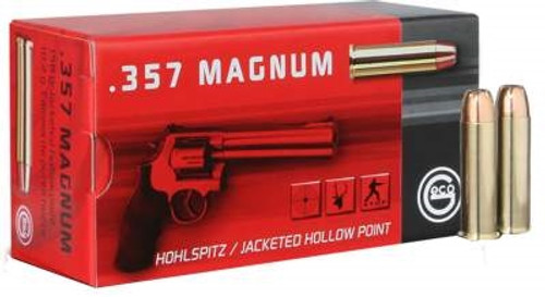 GECO 357 Magnum Ammunition GE204340050 158 Grain Hollow Point 50 Rounds