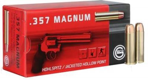 GECO 357 Magnum Ammunition GE204340050 158 Grain Hollow Point 50 Rounds