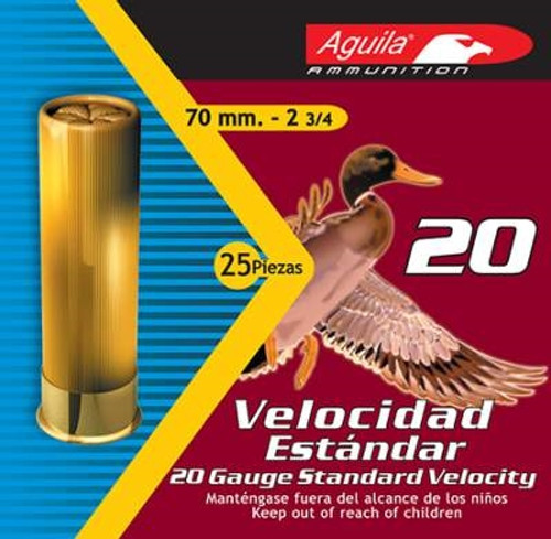 "Aguila 20 Gauge Ammunition Shotshell 2-3/4"" #7 1/2 7/8 oz 1150 FPS CASE 250 rounds"