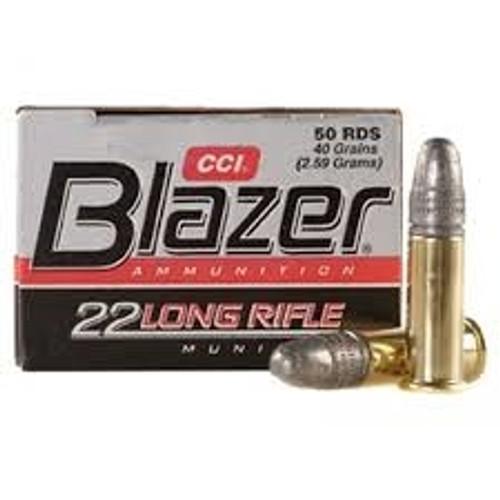 CCI 22LR Ammunition Blazer 0021 40 Grain Lead Round Nose Case of 5000 Rounds