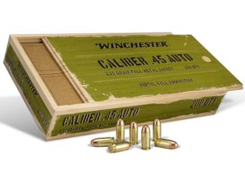 Winchester 45 Auto Service Grade Collectible Wooden rounds 230 gr FMJ 200 rounds