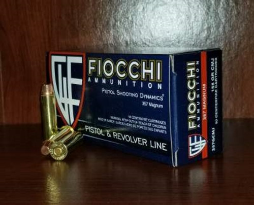 Fiocchi 357 Magnum Ammunition FI357GCMJ 158 Grain Full Metal Jacket Flat Point 50 rounds