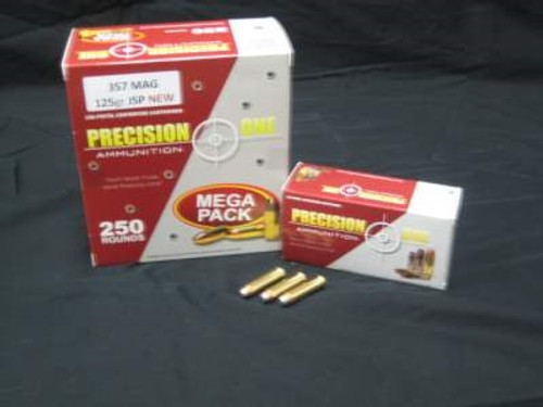 Precision One 357 Magnum Ammunition 158 Grain Jacketed Soft Point 50 rounds