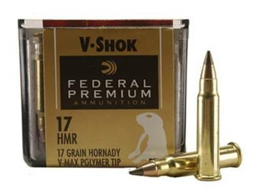 Federal 17 HMR Ammunition V-Shok P771 17 Grain Hornady V-Max 50 Rounds
